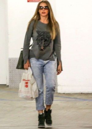 Sofía Vergara in Jeans out in Beverly Hills