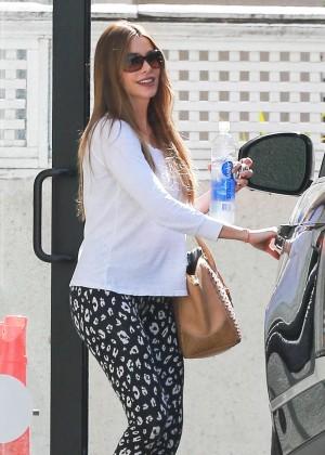 Sofía Vergara in Spandex - Leaving the gym in West Hollywood