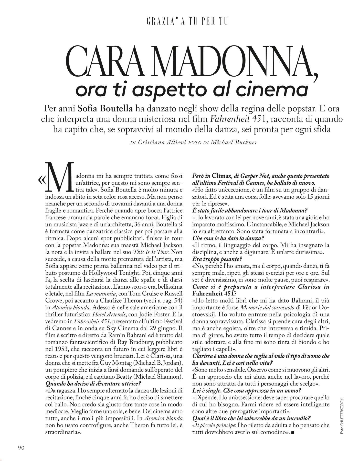 Sofia Boutella 2018 : Sofia Boutella: Grazia Magazine 2018 -02