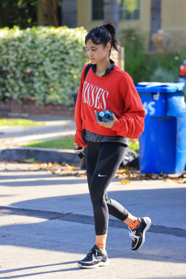 Sofia Boutella - Heads to a Pilates class in West Hollywood