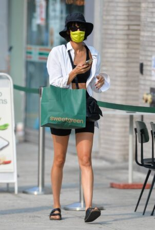 Sofia Boutella - Seen at Sweetgreen in Downtown Manhattan