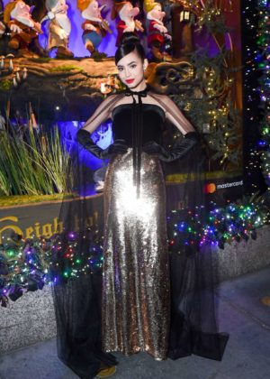 Sofia Carson - 2017 Saks Fifth Avenue and Disney 'Once Upon a Holiday' in NY