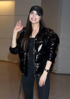 Sofia Carson - Arriving at Narita Airport in Tokyo