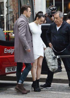 Sofia Carson - Descendants 2 promotion Aboard a London Bus