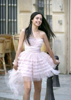 Sofia Carson - Filming in Paris