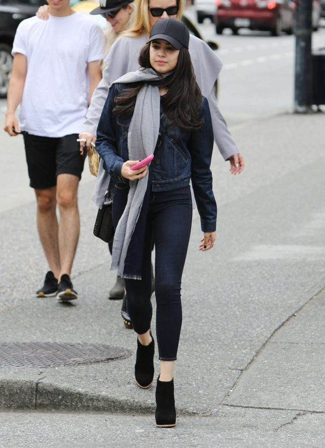 Sofia Carson in Tight Jeans Out in Vancouver