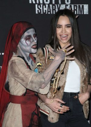 Sofia Carson - Knott's Scary Farm Celebrity Night  Photocall in Buena Park