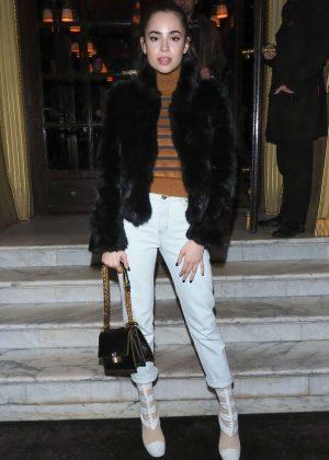 Sofia Carson Leaving Hotel Costes restaurant in Paris