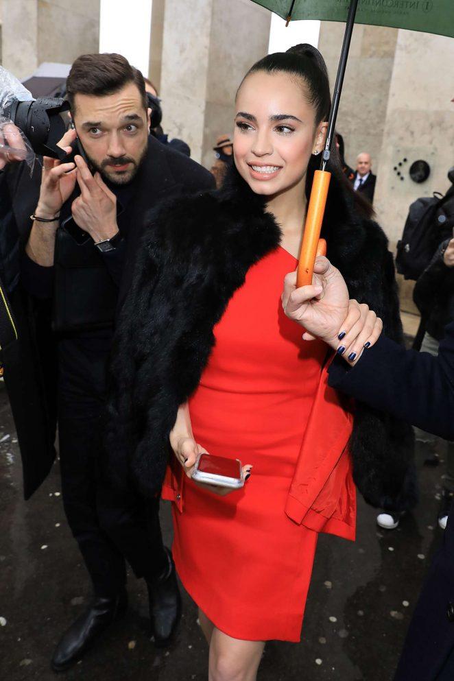 Sofia Carson Leaving Mugler Show in Paris
