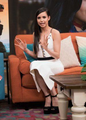 Sofia Carson on set of 'Despierta America' at Univision Studios in Miami