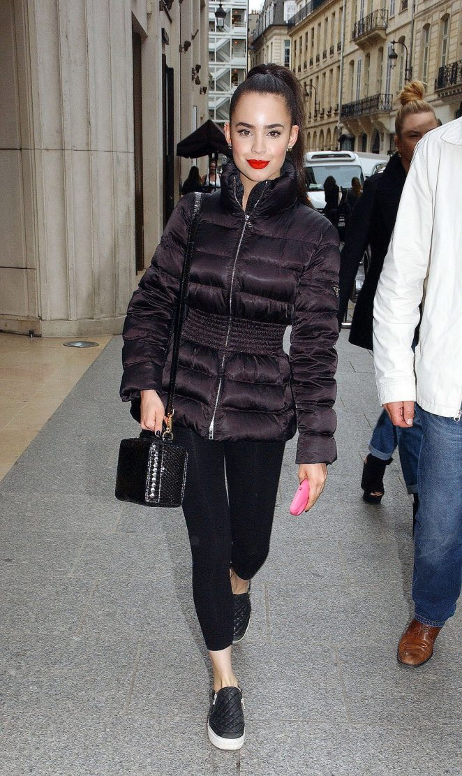 Sofia Carson out and about in Paris