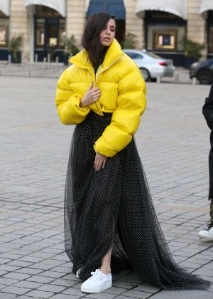 Sofia Carson - Out and about in Paris