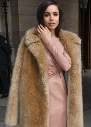 Sofia Carson - Outside Stella McCartney Show in Paris