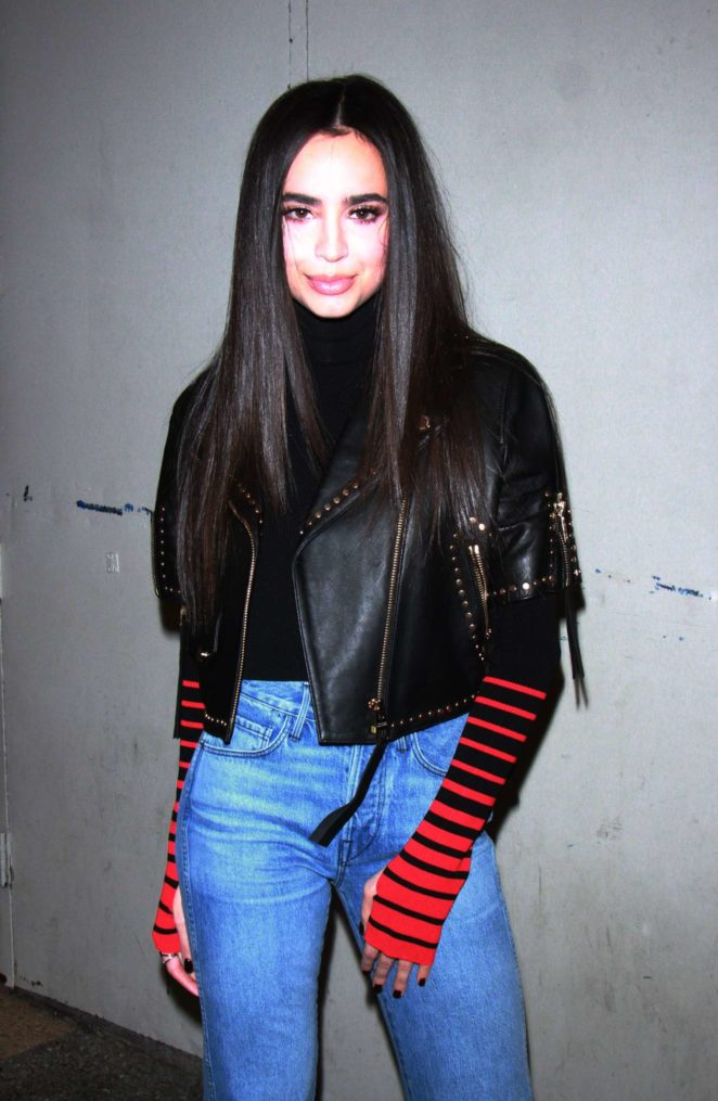 Sofia Carson – Seen At TRL to talk about her new single 'Ins and Out'