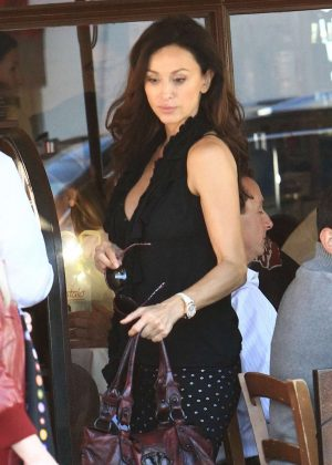 Sofia Milos out to lunch in Beverly Hills