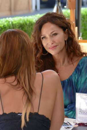 Sofia Milos - Seen at a Lunch With Female Friend