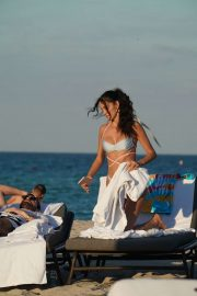 Sofia Resing in Bikini at the beach in Miami