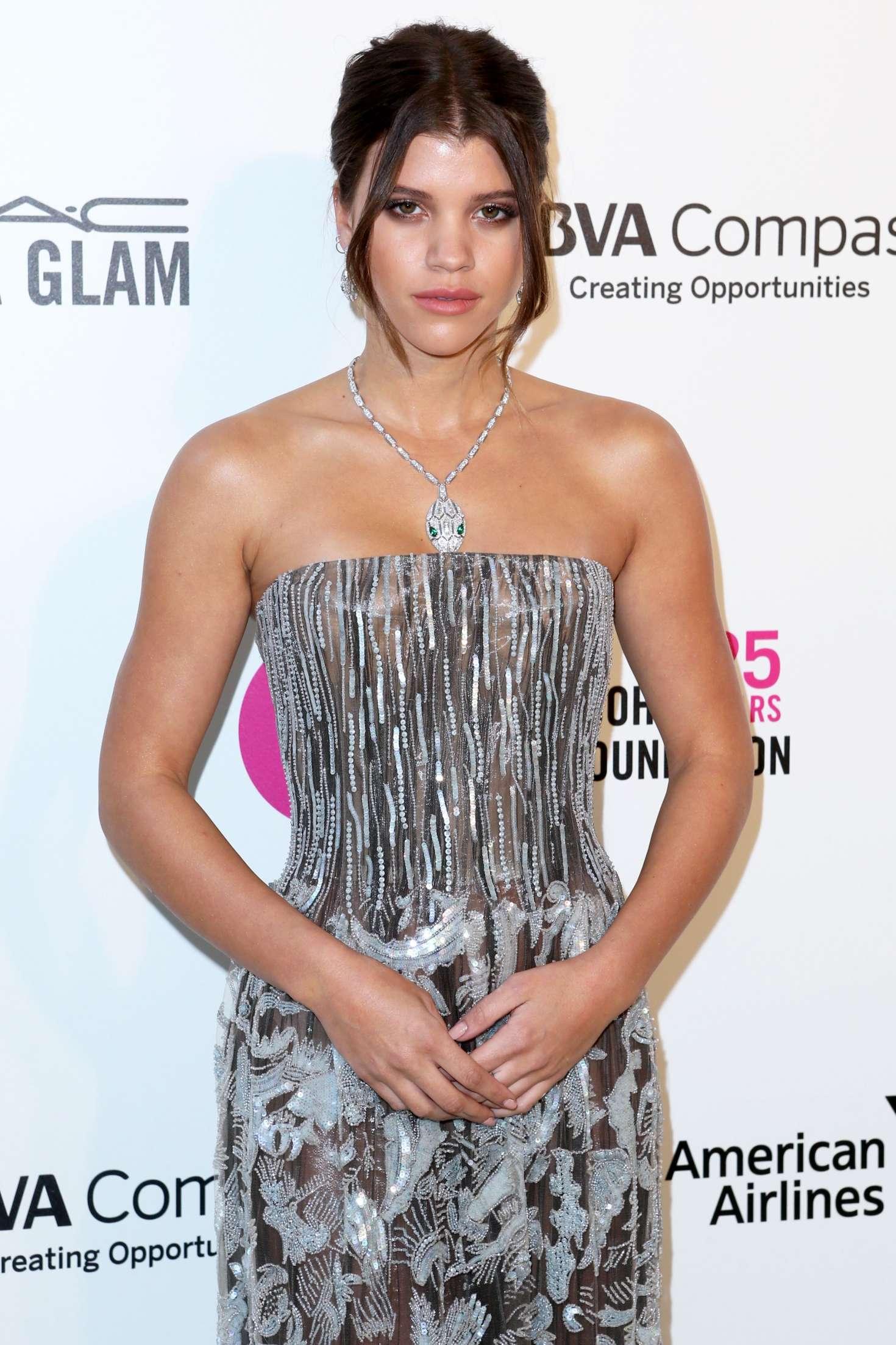 Sofia Richie 2018 : Sofia Richie: 2018 Elton John AIDS Foundations Oscar Viewing Party -03