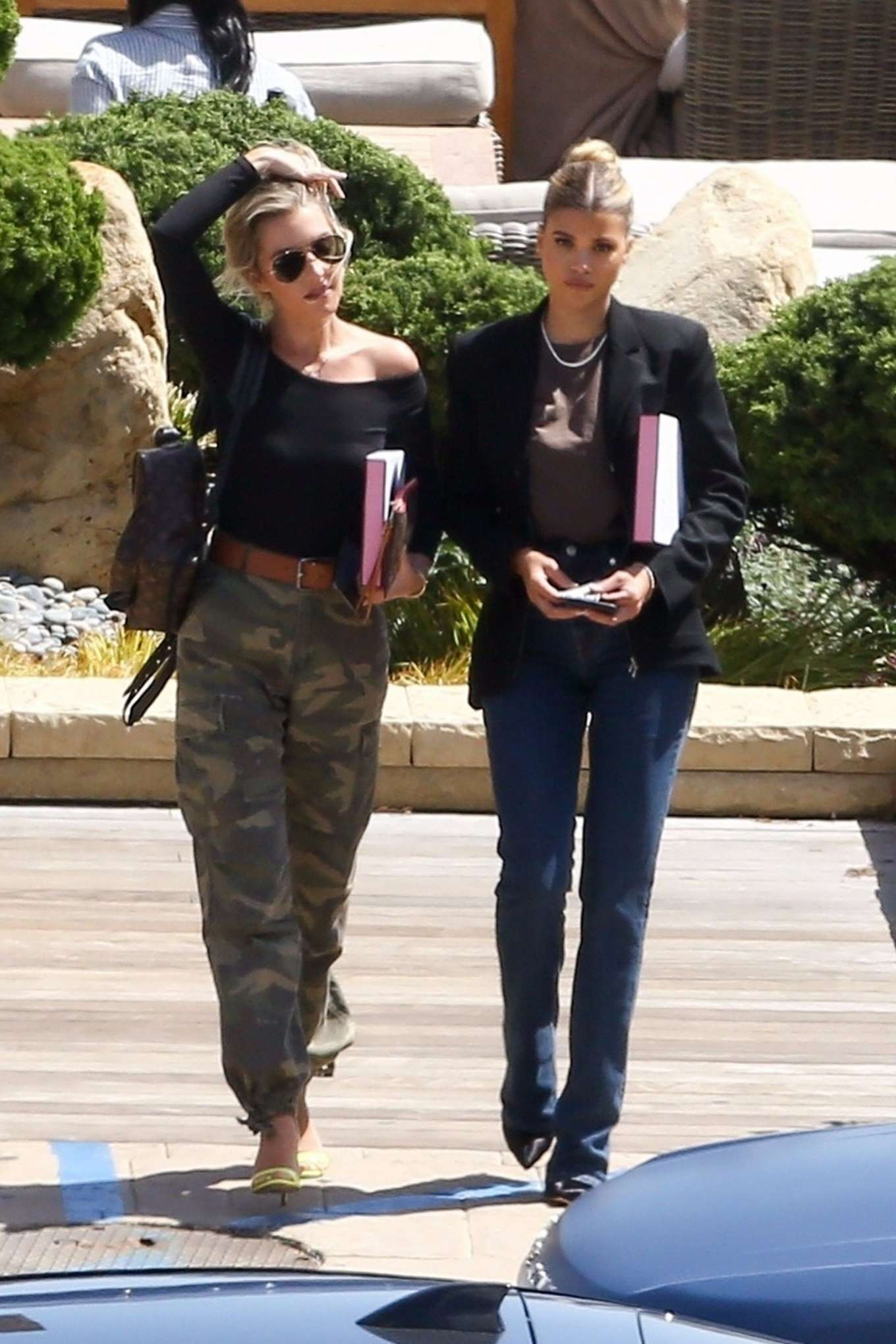 Sofia Richie and Hayley Carling at Nobu in Malibu
