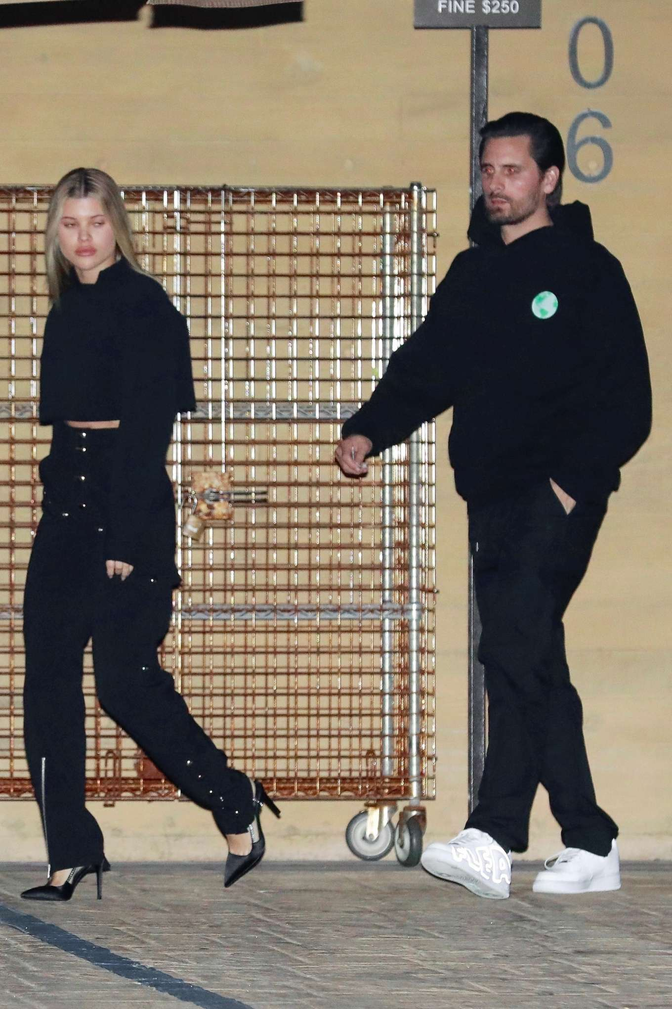 Sofia Richie and her boyfriend Scott Disick - Leaves the Nobu restaurant in Malibu