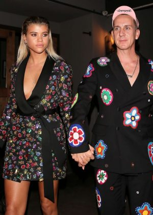 Sofia Richie and Jeremy Scott out for dinner in West Hollywood