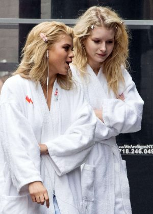 Sofia Richie and Lottie Moss - On set of a photoshoot in NYC