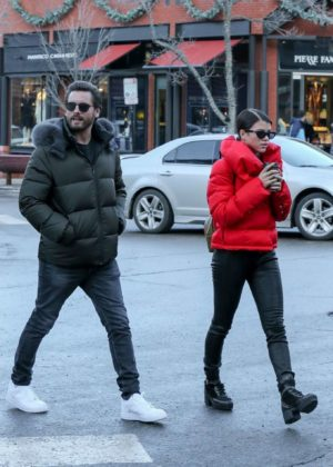 Sofia Richie and Scott Disick - Out in Aspen
