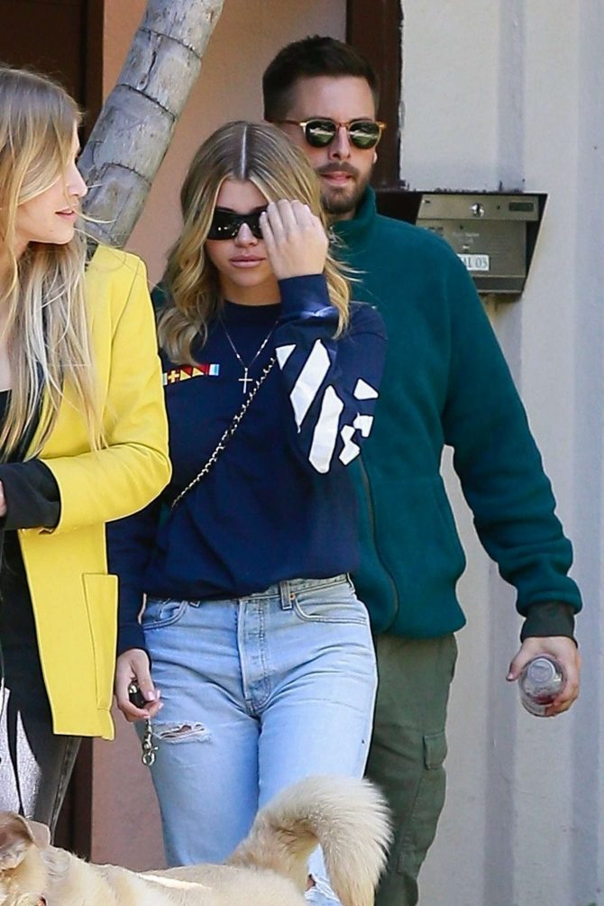 Sofia Richie and Scott Disick – Out in Beverly Hills