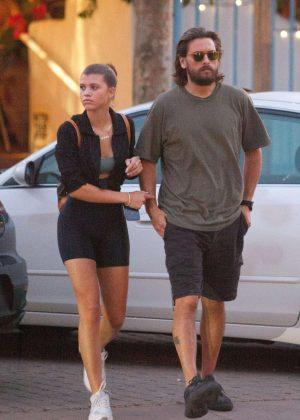 Sofia Richie and Scott Disick - Out in Malibu