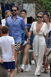 Sofia Richie and Scott Disick with Kris and Kylie Jenner