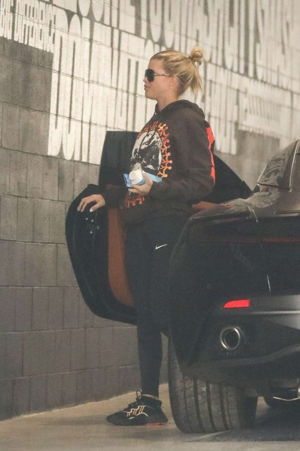 Sofia Richie - Arrives for a training session at Dogpound gym in West Hollywood