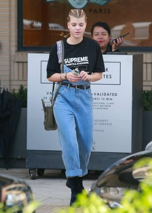 Sofia Richie at Barney's in Beverly Hills