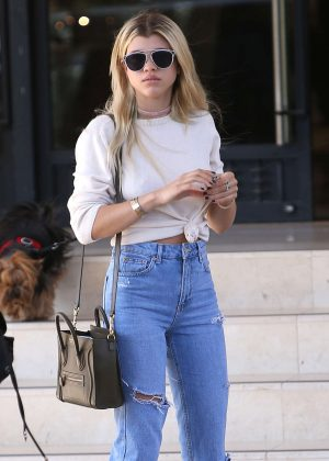 Sofia Richie at Barney's NY in Beverly Hills