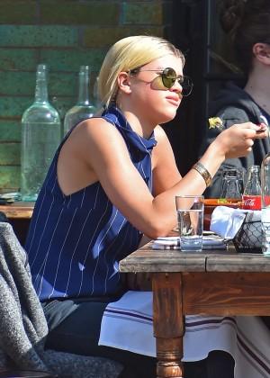 Sofia Richie at Gemma Italian Restaurant in New York