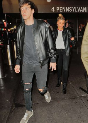 Sofia Richie at Knicks vs Magic game at Madison Square Garden in New York