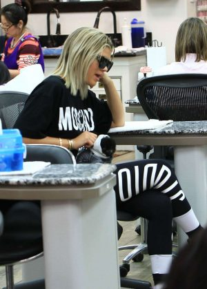 Sofia Richie at nails salon in Beverly Hills