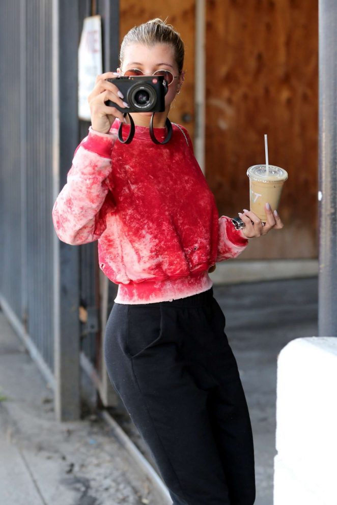 Sofia Richie at Verve Coffee in West Hollywood