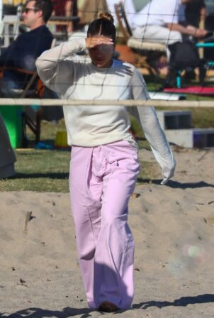 Sofia Richie - celebrates her 4th of July on the beach in Malibu