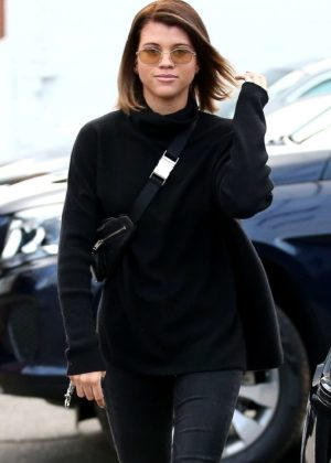 Sofia Richie - Goes brunette in Beverly Hills