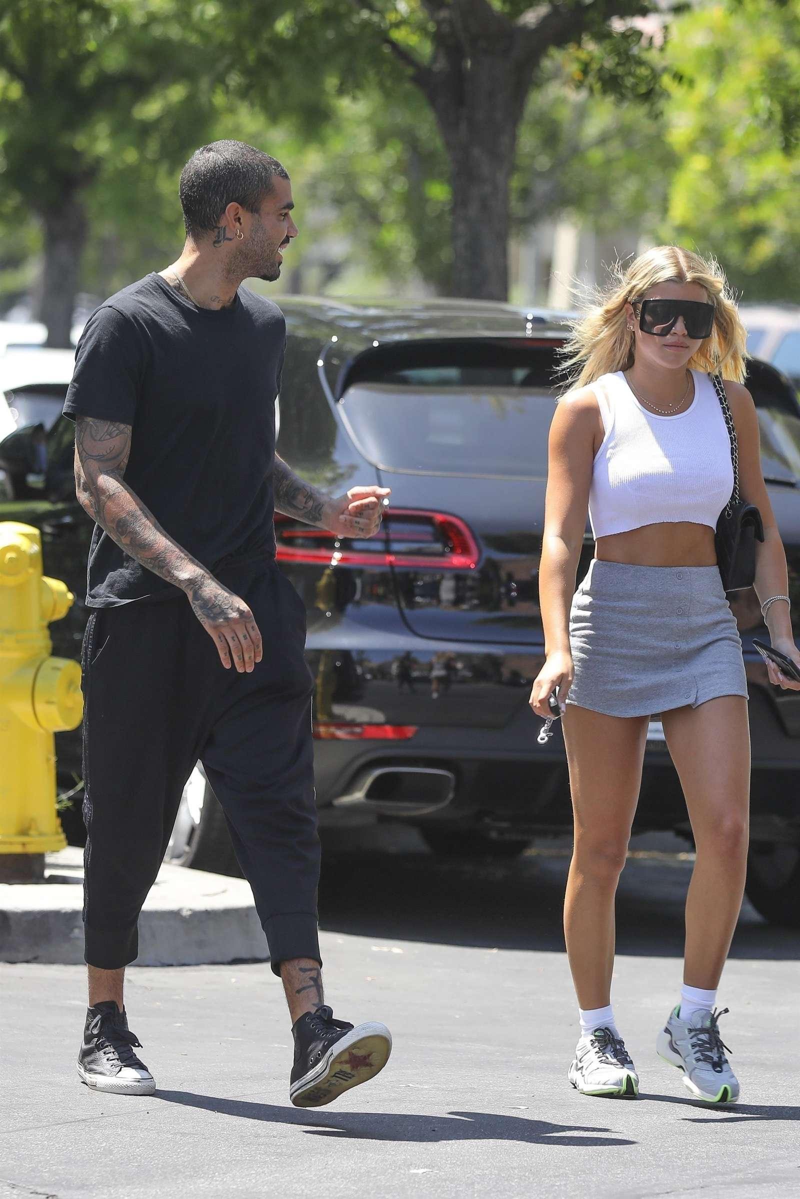 Sofia Richie 2019 : Sofia Richie – In a grey mini skirt out in Calabasas-10