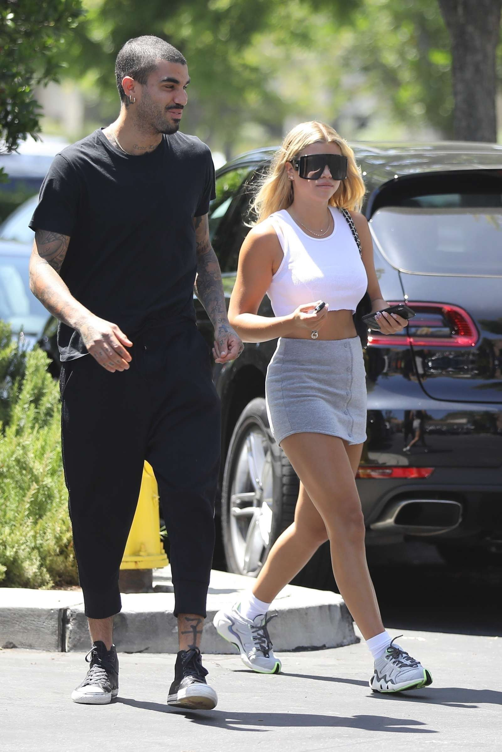 Sofia Richie 2019 : Sofia Richie – In a grey mini skirt out in Calabasas-13