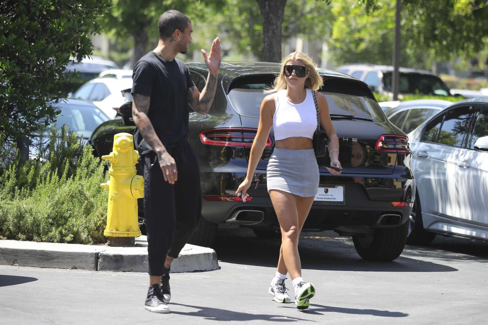 Sofia Richie 2019 : Sofia Richie – In a grey mini skirt out in Calabasas-14