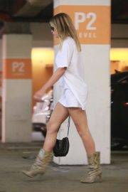Sofia Richie in Animal Print Boots - Out for shopping in Beverly Hills