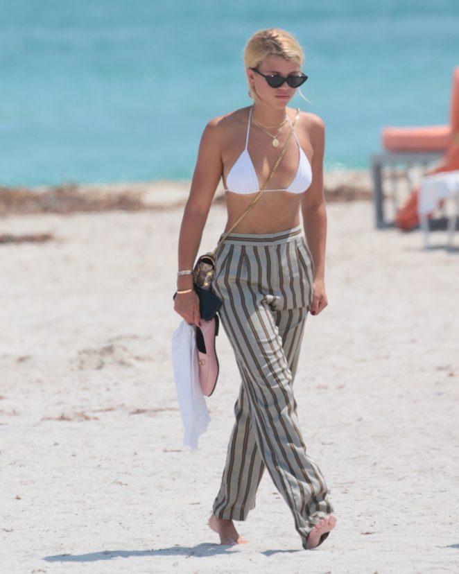 Sofia Richie - In Bikini top in Miami Beach