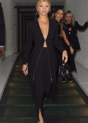 Sofia Richie in Black Night out in London