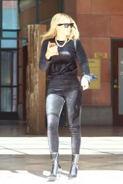 Sofia Richie in Black Velvet Ensemble - Out in Hollywood