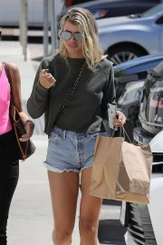 Sofia Richie in Denim Shorts - With her friend in Malibu