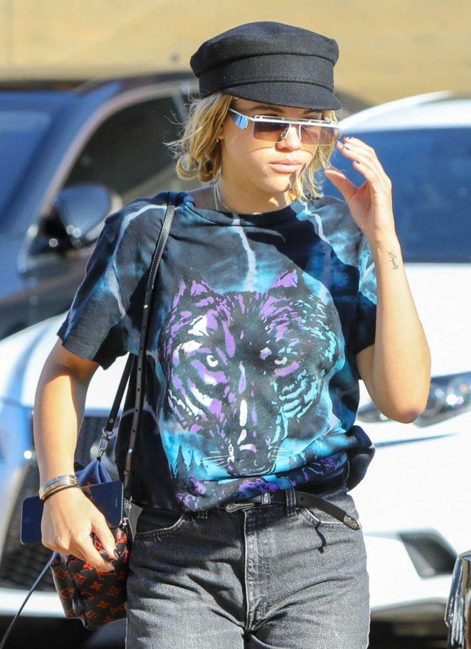 Sofia Richie in Jeans at Nobu in Malibu