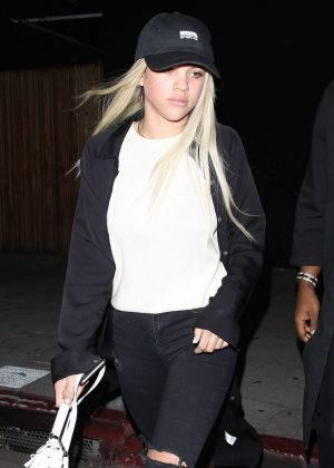 Sofia Richie in Jeans at The Nice Guy in West Hollywood