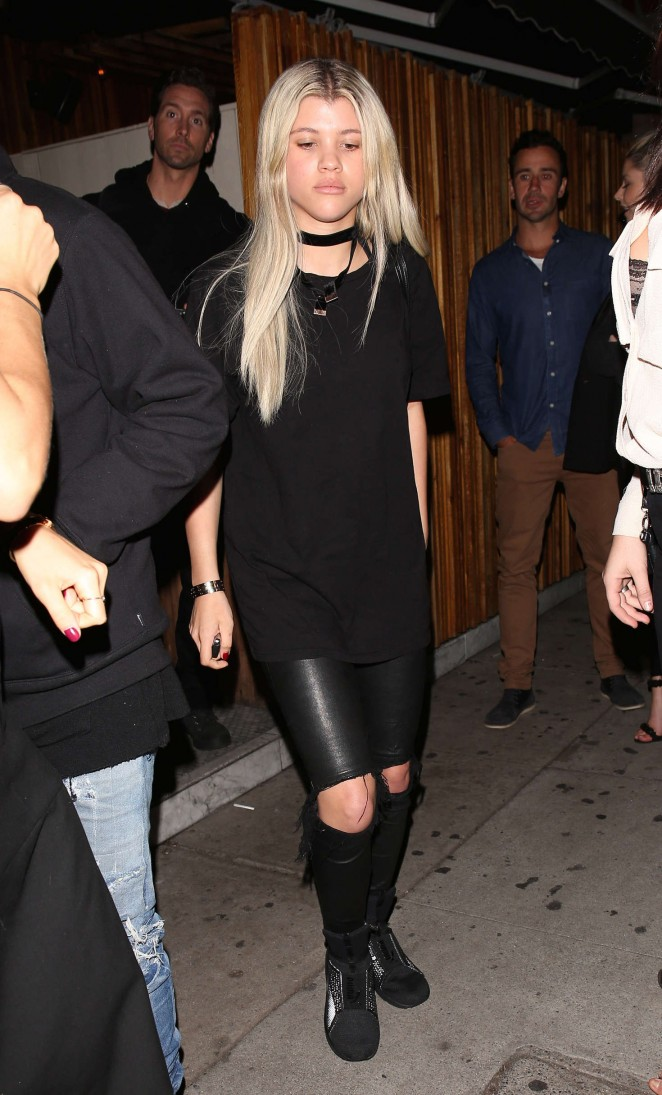 Sofia Richie in Leather at the Nice Guy in Los Angeles